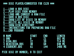 C128 Basic Digi Player - C128