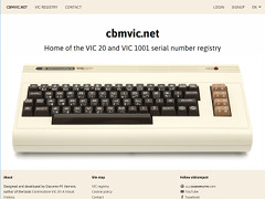 VIC 20 & VIC 1001 registry