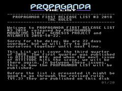 Propaganda List 2019/2
